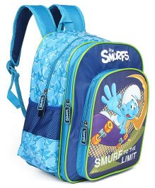 Smurfs School Bag Sky Blue - 14 inches