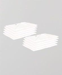 Lula Reusable Muslin Square Napkins Pack of 10 - White