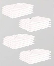 Lula Reusable Muslin Square Napkins Pack of 20 - White