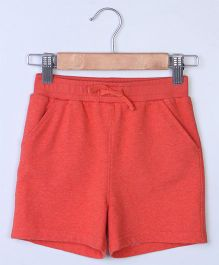 Beebay Ribbed Waistband Shorts - Orange