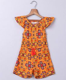 Beebay Kolidoscope Print Jumpsuit - Orange
