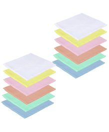 Lula Reusable Muslin Square Napkins Pack of 12 - Multi Colour