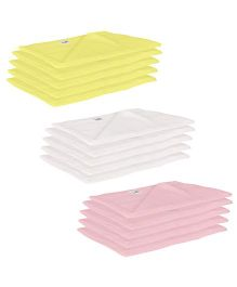 Lula Reusable Muslin Square Napkins Pack of 15 - Yellow White Pink