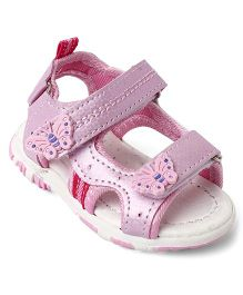 Cute Walk Baby by Babyhug Sandals Butterfly Patch - Pink