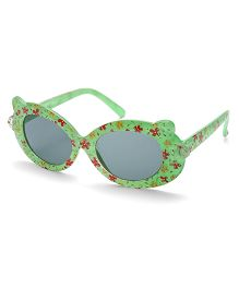 Babyhug Sunglasses UV 400 Protected Floral Design - Green