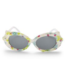 Babyhug Sunglasses UV 400 Protected Floral Design - White Green