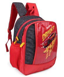 Hot Wheels Theme School Bag Red - Height 14 inches