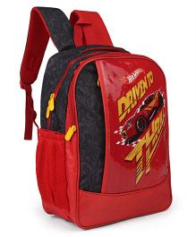 Hot Wheels Theme School Bag Red - Height 16 inches