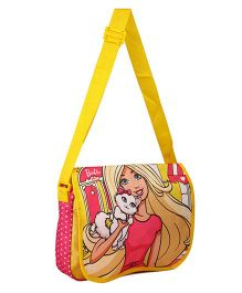Barbie Messenger Bag Yellow Pink - 12.9 inches