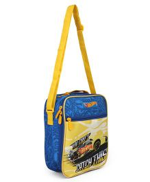 Hot Wheels Lunch Case Bag Yellow - Height 10.2 inches