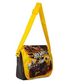 Hot Wheels Messenger Bag Yellow Black - 12.9 inches