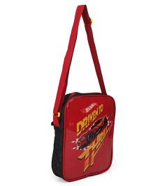 Hot Wheels Lunch Case Bag Red Black - Height 10.2 inches