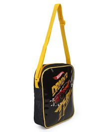 Hot Wheels Lunch Case Bag Yellow Black - Height 10.2 inches