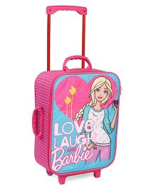 Barbie Trolley Bag Light Pink Blue - 17 inches