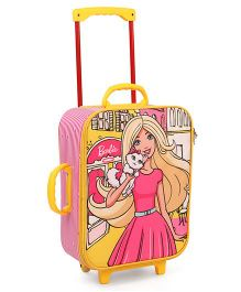 Barbie Trolley Bag Light Pink Yellow - 16 inches