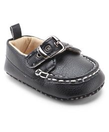 Cute Walk By Babyhug Loafers Style Booties - Black