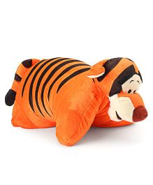 Starwalk Tiger Folding Plush Pillow Orange - 36 cm