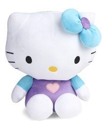 Hello Kitty Plush Toy Blue Purple - Height 25 cm