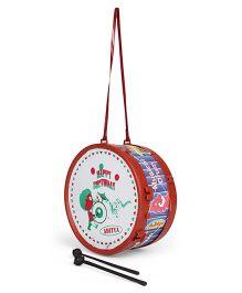 Luvely Musical Drum With Sticks - Maroon Blue