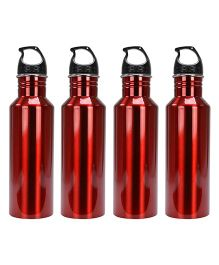 Aristo Sports Bottles Pack of 4 Red - 750 ml