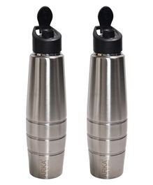 Pexpo Duro Sipper Bottles Silver Pack of 2 - 1000 ml