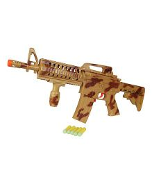 Planet of Toys Semi Auto Running Fire Soft Bullet Gun - Brown
