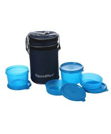 Signoraware Executive Lunch Box Set With Insulated Bag - Blue