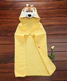Babyhug Terry Cotton Towel With Hood - Yellow