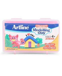 Artline Modelling Clay 140 grams - Pink