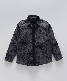 Knotty Kids Full Sleeves Printed Shirt - Black