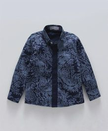 Knotty Kids Full Sleeves Printed Shirt - Blue