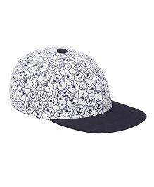 Imagica Allover Printed Kids Cap - Navy Blue