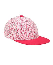 Imagica Allover Printed Kids Cap - Pink