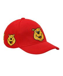 Imagica Emoji Embroidered Kids Cap - Red