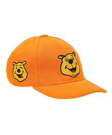 Imagica Emoji Embroidered Kids Cap - Orange