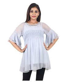 9teen Again Georgette Maternity Wear - Powder Blue