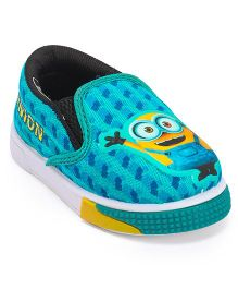 Minions Slip On Casual Shoes - Sea Green