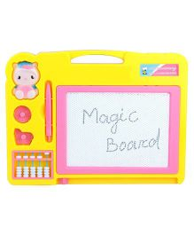 VibgyorVibes 2 In 1 Double Sided Magnetic Slate - Pink Yellow