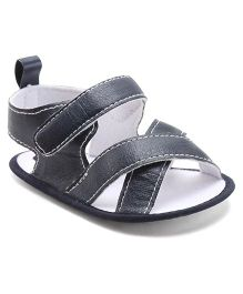 Cute Walk By Babyhug Sandal Style Booties - Navy Blue