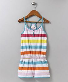 Eimoie Striped Strap Jumpsuit - Multicolour