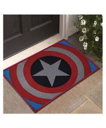 Marvel Captain America Theme Polyester Doormat - Red Blue