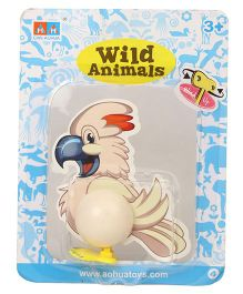 Playmate Wind Up Toy Bird Off White - 11 cm