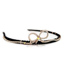 Aayera'S Nest Diamond Bow Hairband - Black