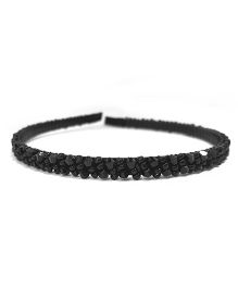 Aayera'S Nest Beads Hairband - Black