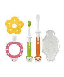 Richell Training Toothbrush Set - Multicolor
