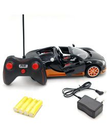 Flyers Bay Rechargeable Bugatti Style Remote Control Car - Black Orange