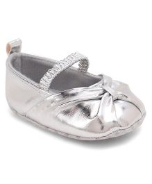 Cute Walk by Babyhug Party Wear Booties - Silver