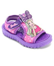 Barbie Sandals With Bow Applique - Purple