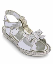Disney Princess Glittery Party Wear Sandals - Silver