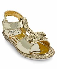Disney Princess Glittery Party Wear Sandals - Golden